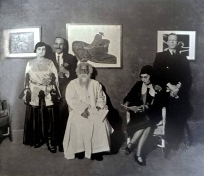 Rabindranath with Countess