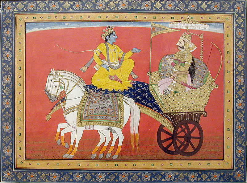 The hero and the avatar: Arjuna and Krishna in the Bhagavad Gītā.