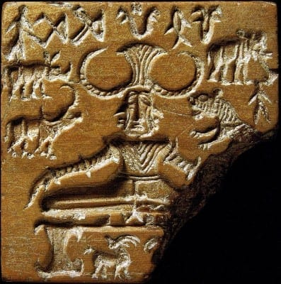 Pashupati Seal of the Indus Valley Civilization, which Alain Daniélou related to the most ancient form of polytheistic religion.
